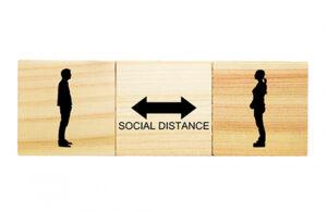 ソーシャルディスタンスの確保できる距離の確保